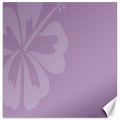 Hibiscus Sakura Lavender Herb Purple Canvas 20  x 20