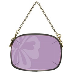 Hibiscus Sakura Lavender Herb Purple Chain Purses (one Side)