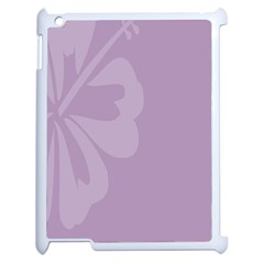 Hibiscus Sakura Lavender Herb Purple Apple iPad 2 Case (White)