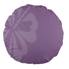 Hibiscus Sakura Lavender Herb Purple Large 18  Premium Round Cushions