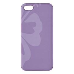 Hibiscus Sakura Lavender Herb Purple Apple iPhone 5 Premium Hardshell Case