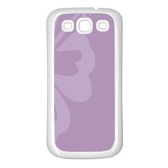 Hibiscus Sakura Lavender Herb Purple Samsung Galaxy S3 Back Case (White)