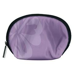 Hibiscus Sakura Lavender Herb Purple Accessory Pouches (Medium)