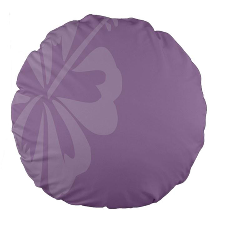 Hibiscus Sakura Lavender Herb Purple Large 18  Premium Flano Round Cushions