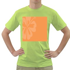 Hibiscus Sakura Tangerine Orange Green T-Shirt