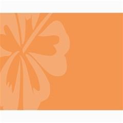 Hibiscus Sakura Tangerine Orange Canvas 11  x 14