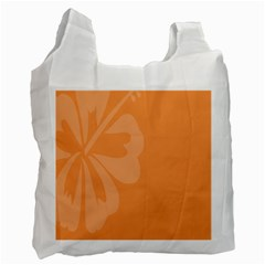 Hibiscus Sakura Tangerine Orange Recycle Bag (One Side)