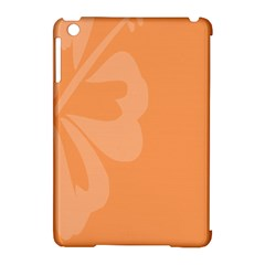 Hibiscus Sakura Tangerine Orange Apple iPad Mini Hardshell Case (Compatible with Smart Cover)