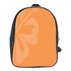 Hibiscus Sakura Tangerine Orange School Bags (XL)