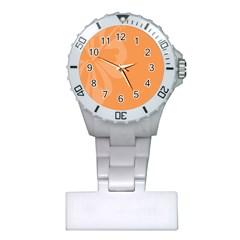 Hibiscus Sakura Tangerine Orange Plastic Nurses Watch