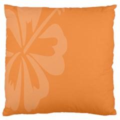Hibiscus Sakura Tangerine Orange Large Flano Cushion Case (two Sides)