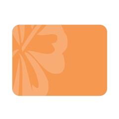 Hibiscus Sakura Tangerine Orange Double Sided Flano Blanket (Mini)