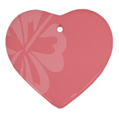 Hibiscus Sakura Strawberry Ice Pink Ornament (Heart)