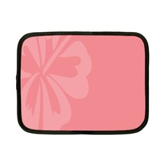 Hibiscus Sakura Strawberry Ice Pink Netbook Case (Small)
