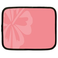 Hibiscus Sakura Strawberry Ice Pink Netbook Case (Large)