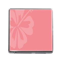 Hibiscus Sakura Strawberry Ice Pink Memory Card Reader (Square)