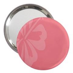 Hibiscus Sakura Strawberry Ice Pink 3  Handbag Mirrors
