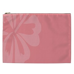 Hibiscus Sakura Strawberry Ice Pink Cosmetic Bag (XXL)