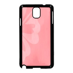 Hibiscus Sakura Strawberry Ice Pink Samsung Galaxy Note 3 Neo Hardshell Case (Black)