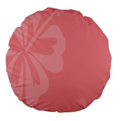 Hibiscus Sakura Strawberry Ice Pink Large 18  Premium Flano Round Cushions