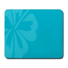 Hibiscus Sakura Scuba Blue Large Mousepads