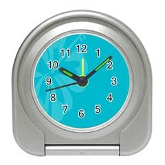 Hibiscus Sakura Scuba Blue Travel Alarm Clocks