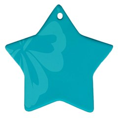 Hibiscus Sakura Scuba Blue Star Ornament (Two Sides)