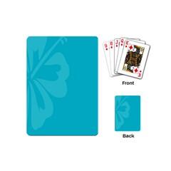 Hibiscus Sakura Scuba Blue Playing Cards (Mini)