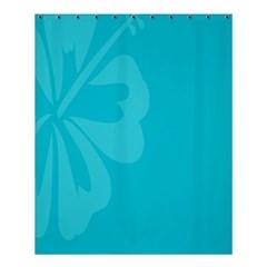 Hibiscus Sakura Scuba Blue Shower Curtain 60  x 72  (Medium)