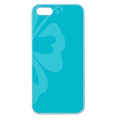 Hibiscus Sakura Scuba Blue Apple Seamless iPhone 5 Case (Color)