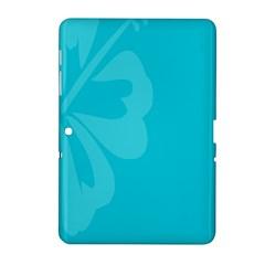Hibiscus Sakura Scuba Blue Samsung Galaxy Tab 2 (10.1 ) P5100 Hardshell Case