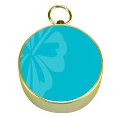 Hibiscus Sakura Scuba Blue Gold Compasses