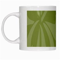 Hibiscus Sakura Woodbine Green White Mugs