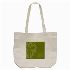 Hibiscus Sakura Woodbine Green Tote Bag (Cream)