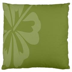 Hibiscus Sakura Woodbine Green Large Cushion Case (Two Sides)