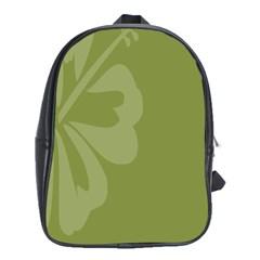 Hibiscus Sakura Woodbine Green School Bags (xl)