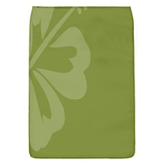 Hibiscus Sakura Woodbine Green Flap Covers (S)