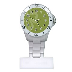 Hibiscus Sakura Woodbine Green Plastic Nurses Watch