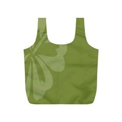 Hibiscus Sakura Woodbine Green Full Print Recycle Bags (S)