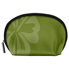 Hibiscus Sakura Woodbine Green Accessory Pouches (Large)