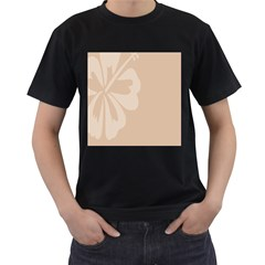 Hibiscus Sakura Toasted Almond Grey Men s T-Shirt (Black)