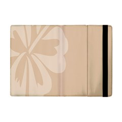 Hibiscus Sakura Toasted Almond Grey Apple iPad Mini Flip Case