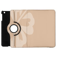 Hibiscus Sakura Toasted Almond Grey Apple iPad Mini Flip 360 Case