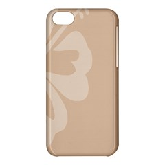 Hibiscus Sakura Toasted Almond Grey Apple iPhone 5C Hardshell Case