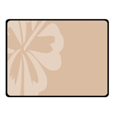 Hibiscus Sakura Toasted Almond Grey Double Sided Fleece Blanket (Small)