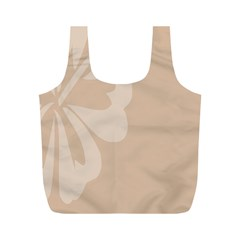 Hibiscus Sakura Toasted Almond Grey Full Print Recycle Bags (M)