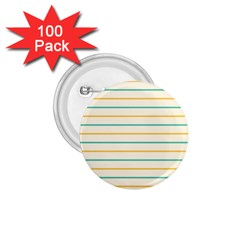 Horizontal Line Yellow Blue Orange 1.75  Buttons (100 pack)
