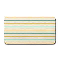 Horizontal Line Yellow Blue Orange Medium Bar Mats