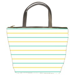 Horizontal Line Yellow Blue Orange Bucket Bags