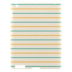 Horizontal Line Yellow Blue Orange Apple Ipad 3/4 Hardshell Case